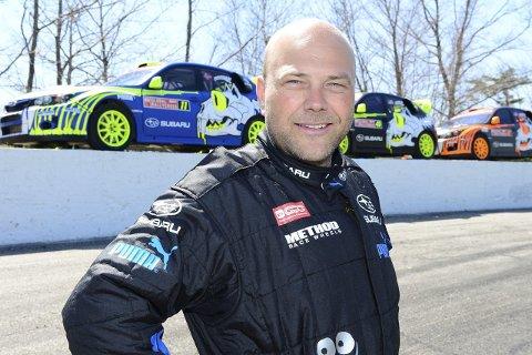 BRØT: Sverre Isachsen fra Hokksund måtte bryte siste runde av Global Rallycross-mesterskapet i Las Vegas.