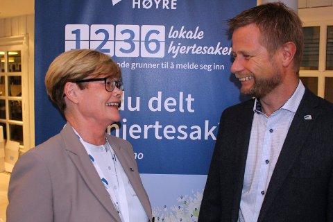 Partikollegaene Kristin Ørmen Johnsen og helse- og omsorgsminister Bent Høie.