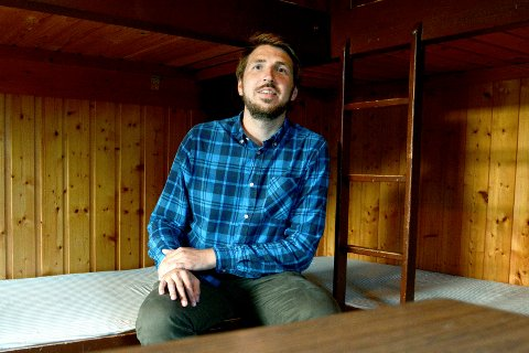 ENKEL STANDARD: Journalist Mats Arnesen har overnattet på Drammen Camping.