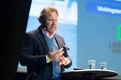 SUKSESS: På Eiendomsdagen i Drammen på Union Scene fortalte eiendomsinvestor lars Nilsen om hvordan han og Trond Sørum gjorde en tom pillefabrikk om til en suksess.