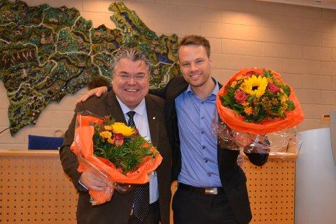SEIERHERRER: Morten Wold (t.v.) og Jon Helgheim var begge lettet og glad etter at topplasseringene var sikret.