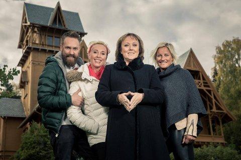 Ørjan Burøe, Lise Askvik, Lena Ranehag og Vibeke Skofterud i En natt på slottet.