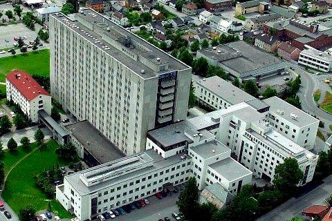 Flyfoto  Drammen   Buskerud Sentralsykehus
