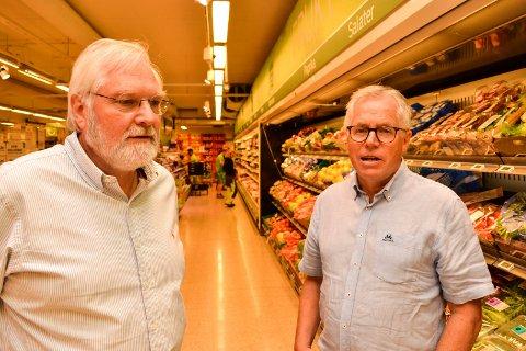 FLERE BUTIKKER:Tor Kirkeng og Jan Paul Bjørkøy i KIWI satser på å ha mer enn 650 Kiwi-butikker i Norge innen utgangen av året.
