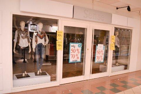 KONKURS: Selskapet D.H. Fashion AS som drev Sense klesbutikk på Torget Vest er konkurs.