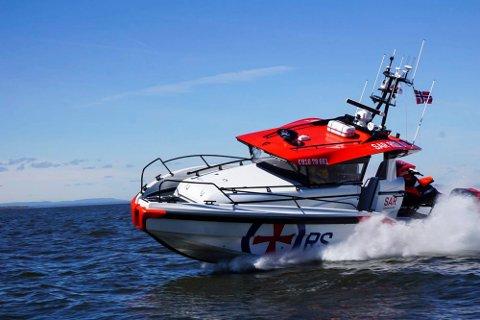 REDNINGSBÅT: Denne redningsbåten var Erik Sætre med på å designe for Eker Design AS.