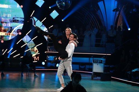 IMPONERTE: Maiken Blom Svensrud og Cengiz Al imponerte med sin finaledans. Dommerne belønnet dansen med 38 av 40 mulige poeng.