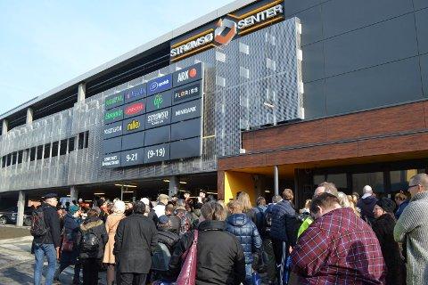 Parkeringshuset på Strømsø senter er forbeholdt kundene, ikke Godset-tilskuerne.
