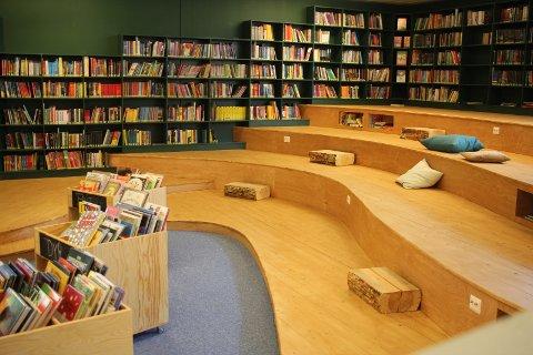 Takket være prosjektmidler fra Sparebankstiftelsen, har Nedre Eiker bibliotek fått bygget en ny barneavdeling med leseamfi.