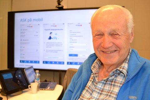 AKSJESPARING: Erik Grinderud har spart i aksjer siden 1982. Nå ser han fordelene med den nye ordningen med aksjesparekonto, så starter opp fredag.
