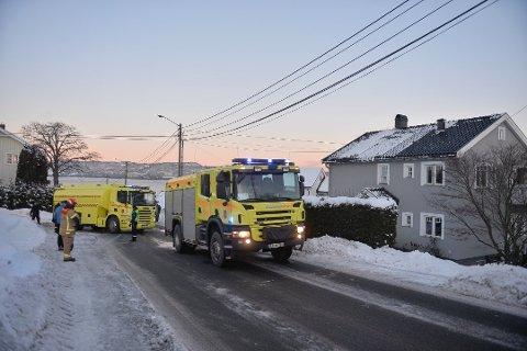 BRANNTILLØP: Brannvesenet rykket lørdag ettermiddag ut til en bolig i Oscar Kiærs vei etter et branntilløp.