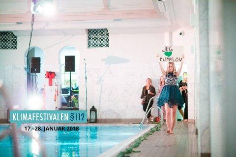 MILJØVENNLIG MOTESHOW: På klimafestival i 2015 var det arrangert et «Grønt Moteshow».