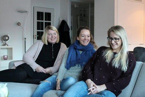 INNSAMLINGSAKSJON: Kristin Gjernes, Karine Noel Moland Wahl og Heidi Davidsen har samlet inn nesten trekvart million for å hjelpe sin kreftsyke venninne.