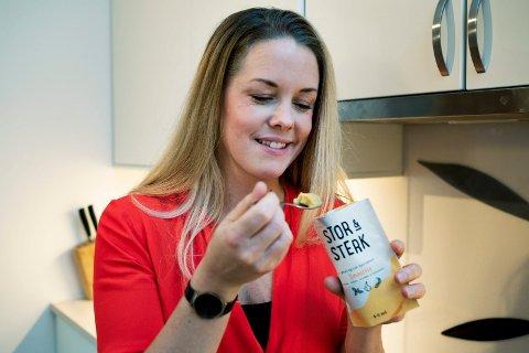 FOLKEFINANSIERING: Gründer Malin Bruset har startet produksjon og salg av barnematen Stor & Sterk.