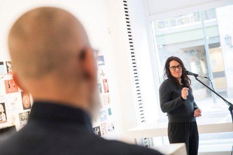 PRIS: Torsdag mottok politisk redaktør i Bergens Tidende, Frøy Gudbrandsen Sunniva-prisen for 2018.   Foto: Håkon Mosvold Larsen / NTB scanpix