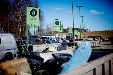 Lindum gjenvinningsstasjon er en av stasjonene hvor søppelet i Drammensregionen havner.