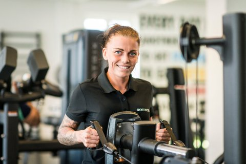 PERSONLIG TRENER: Maren Kittelsen er glad i å trene, og vil hjelpe andre til å finne motivasjon i den ferske jobben som PT.
