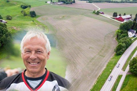 Går alt på skinner kan Tom Arne Winnæs sende av sted pucken fra blue line i en ny ishall på det kommunale jordet i krysset mellom Gamle Sørlandske og Lindumveien.