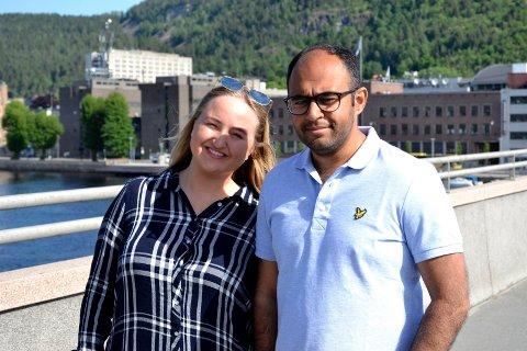 Anniken Thommessen og Adnan Afzal etterlyser kandidater til Serviceprisen 2018.