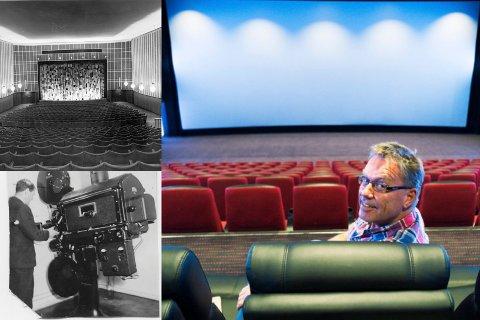 FØR OG NÅ: I 117 år har drammensere samlet seg foran leretter rundt i hele byen. Vi gikk fra å ha mange kinoer på en gang - til at KinoCity ble alene om å bringe kinohistorien til Drammen videre. Det gjør Steinar Johansen til byens eneste kinosjef.