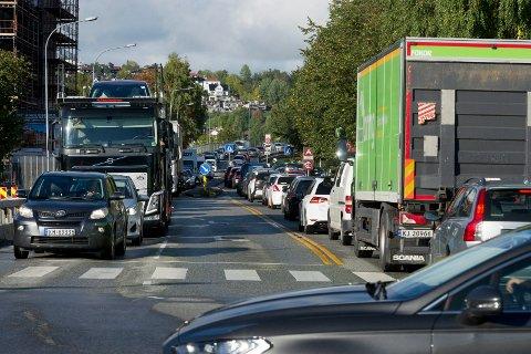 GIR SEG IKKE: Bomaksjon i Drammen sentrum tirsdag. Nå varsles ny aksjon i slutten av september.