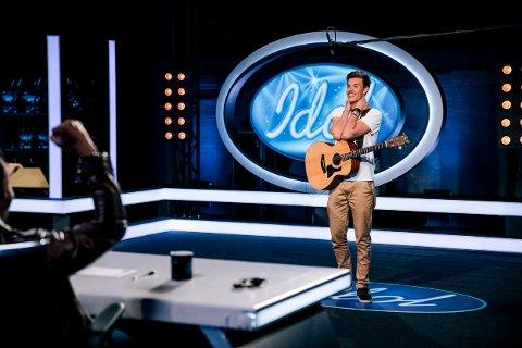 18 år gamle Viljar Røysi fra auditionen i Oslo hvor han gikk videre. Foto: TV 2