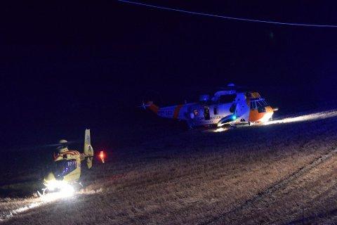 De tre passasjerene ble fløyet til Ullevål sykehus i luftambulanse.