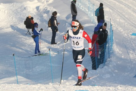 I JUNIOR-VM: Helene Fossesholm i aksjon i junior-VM i Lahti.