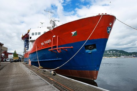 PAN TRADER. Skipet har ligger ved Drammen Yard i havna i Drammen siden 2007, siden juli 2008 i arrest på grunn av manglende betalinger.
