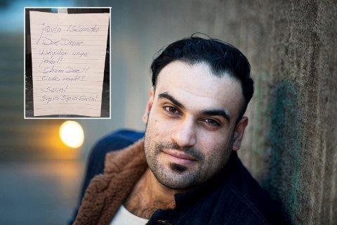 UROLIG: Basel Alhabal Alhabal Basel. Fra Syria men nå bosatt på Tranby i Lier. AP poltiker i Lier. Utsatt for rasisme