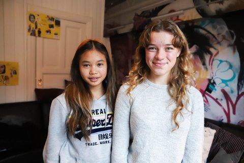 First Melissa Kamvong (13) og Gabriella Skovborg Sverreson (13) er begge med i jentegruppa «Sisterhood».