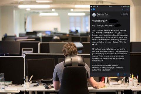 TRUENDE E-POSTER: Flere e-poster fra avsendere som ønsker penger sprer seg på nett. Ekspert-rådet er å slette e-posten.