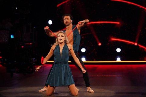 MIDT I DANSEN: Emilie Nereng og dansepartner  Santino Mirenna.