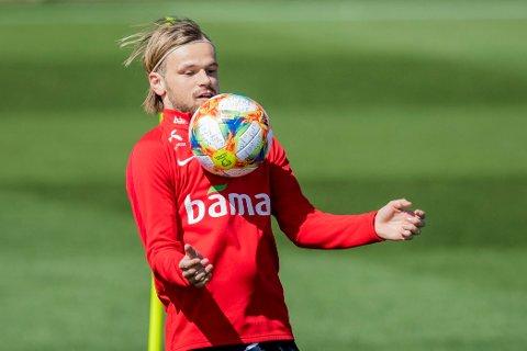 SCORET: Iver Fossum sikret Aalborg-seier med sin 2-0-scoring lørdag.