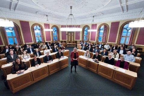 DISKUTERTE GODTGJØRELSER: Kommunestyret i Drammen kommune.