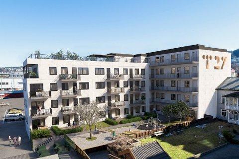 SOLGT TRE: Det er foreløpig solgt tre av 31 leiligheter i Tollbugata 27.