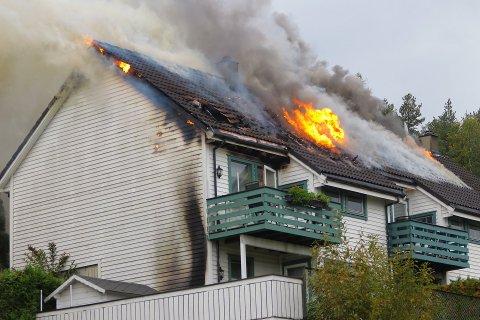 BRANN: I starten av oktober ble to boenheter totalskadd etter brann i St. Hansveien i Drammen.