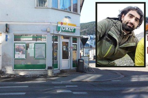 EIER: Mohammad Ali Ahmed (26) eier Joker i konnerudgata. Nå er han en av de yngste på formuetoppen i Drammen.