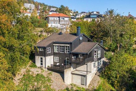 SOLGT: Huset i Underhaugsveien 1 ble solgt etter første visning.