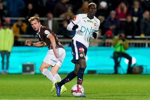 MØTES i 2020: SIFs Moses Mawa (t.h.) og MIFs William Sell møtes i Ælv Classico to ganger i Eliteserien 2020.