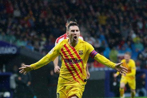 Vi tror Barcelona og Lionel Messi lager ny målfest på hjemmebane. (AP Photo/Manu Fernandez)
