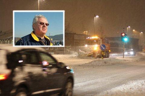 SKRYTER AV BRØYTEBILSJÅFØRENE: Lastebilsjåføren Bjørn Dahl Johansen.