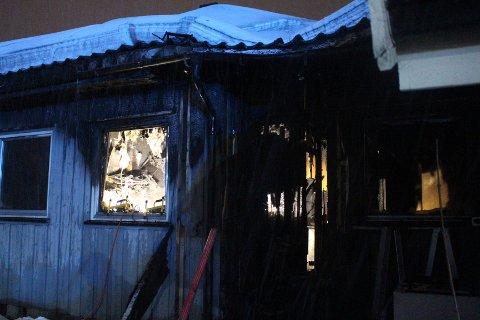 TOTALSKADD: En leilighet i Hurum ble totalskadd da det begynte å brenne på kjøkkenet.