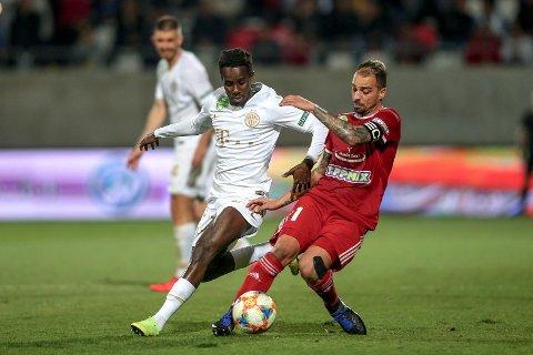 Tokmac Nguen meldte overgang til den ungarske tobbklubben Ferencvaros i vinter. Onsdag herjet han på venstrekanten i mesterligakvalifiseringen i Budapest.
