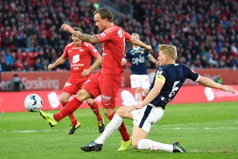 UAVGJORT: Sist gang Strømsgodset spilte mot brann, endte den 1-1 i Bergen. Det skulle Jakob Glesnes og resten av Godset være fornøyd med.