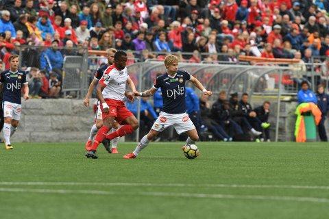 FIKK SJANSEN:  Sebastian Pedersen fikk sjansen da Strømsgodset møtte Ullern i 2. runde i Nm. Nå skal SIF møte Fram fra Larvik i 3. runde.
