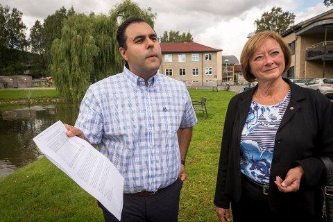 AP-POLITIKERE: Masud Gharahkhani og Lise Christoffersen.