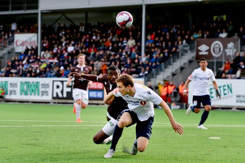 SOLID: Olivier Occean spilte en solid kamp for Mjøndalen, og var nære ved å score.