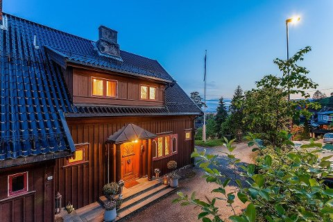HØY VERNEVERDI: Denne boligen i Hans Hansensvei er bygget i 1929, rett før funkisstilen gjorde sitt inntog.