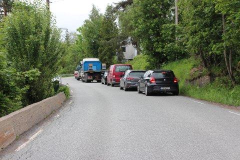 Svelvikveien ble stengt som følge av den væpnede aksjonen torsdag.